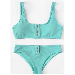 Other - ✿ RESTOCKED Ribbed Button Up Bikini Set ✿